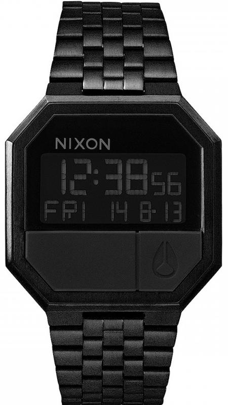 Ρολόι χειρός Nixon Digital Re Run Black A158-001 A158-001 Ατσάλι