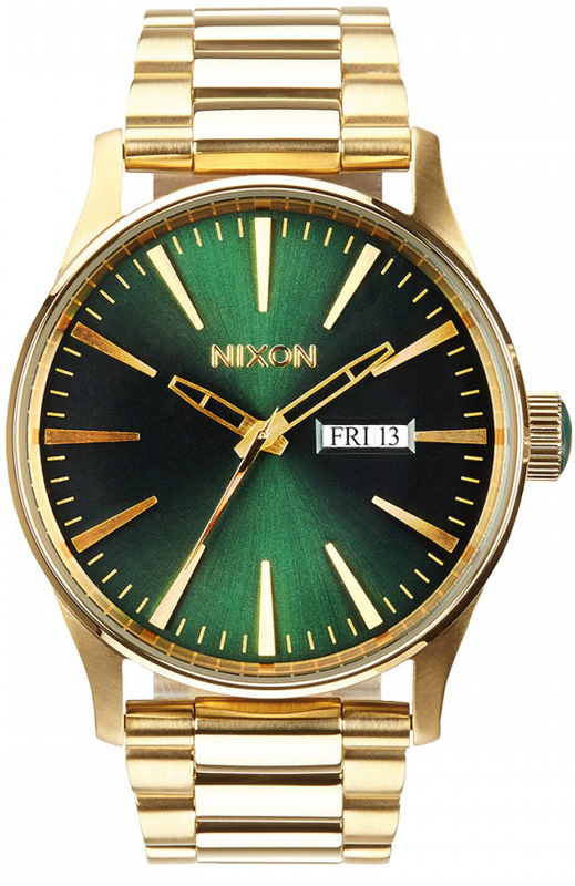 Αντρικό ρολόι Nixon Sentry Gold Bracelet SS A356-513-00 A356-513-00 Ατσάλι