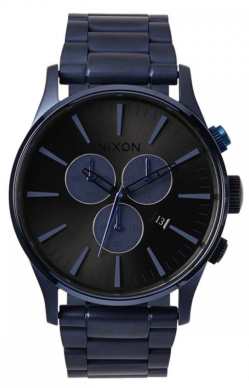 Ρολόι Nixon Sentry Chrono Blue Bracelet A386-1679-00 A386-1679-00 Ατσάλι