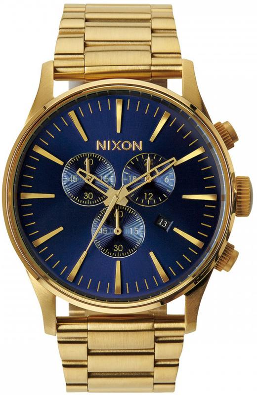 Ρολόι Nixon Sentry Chrono Gold Bracelet A386-1922-00 A386-1922-00 Ατσάλι