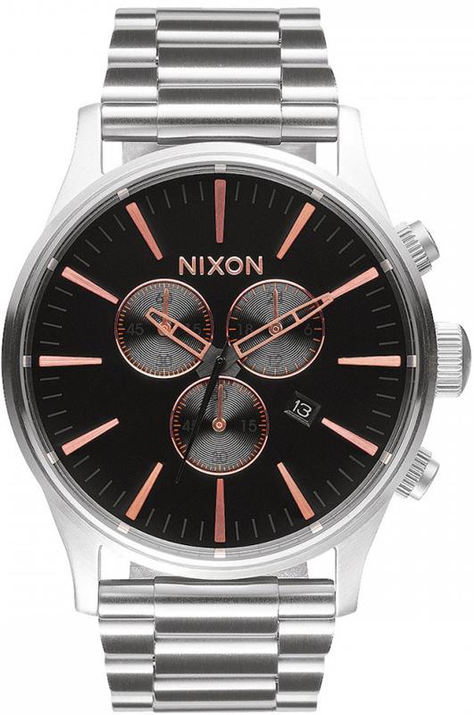 Ρολόι Nixon Sentry Chrono Stainless Steel Bracelet A386-2064-00 A386-2064-00 Ατσάλι