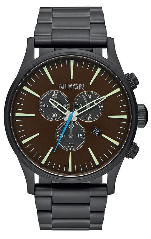 Ρολόι Nixon Sentry Chrono Brawn Bracelet A386-2209-00 A386-2209-00 Ατσάλι