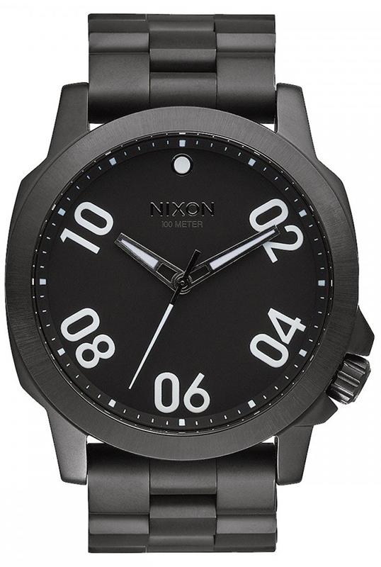 Ρολόι αντρικό Nixon Ranger Black Bracelet A521-001-00 A521-001-00 Ατσάλι