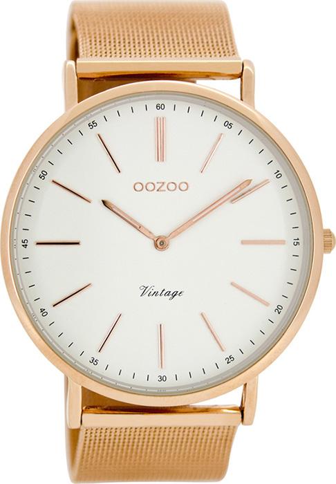 Γυναικείο ρολόι OOZOO Timepieces Vintage XL Rose Gold C8177 C8177