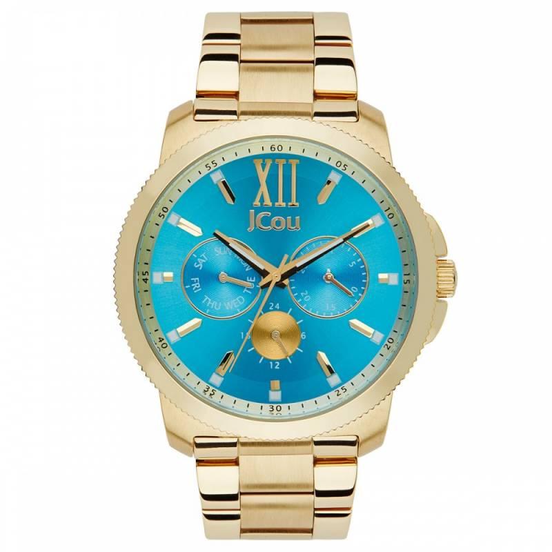 Γυναικείο τυρκουάζ ρολόι JCou JU14487JSG-59M JU14487JSG-59M