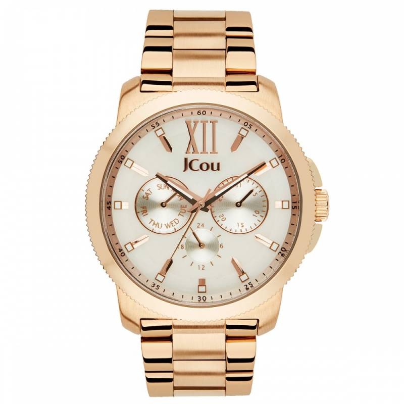 Γυναικείο ρολόι Jcou Blue Sea Roze Gold JU14487JSR-28M JU14487JSR-28M Ατσάλι ρολόγια jcou