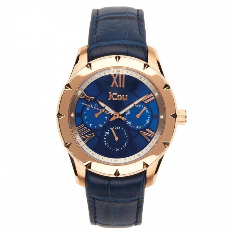 Jcou Island Blue Leather Strap JU14490JSR-03 JU14490JSR-03 ρολόγια jcou
