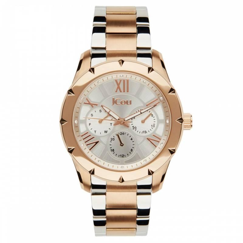 Γυναικείο ρολόι Jcou Island Rose-White JU14490JSTR-04M JU14490JSTR-04M Ατσάλι