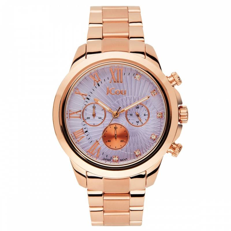 Ρολόι JCou South Coast Rose gold Bracelet JU15041-5 JU15041-5 Ατσάλι ρολόγια jcou