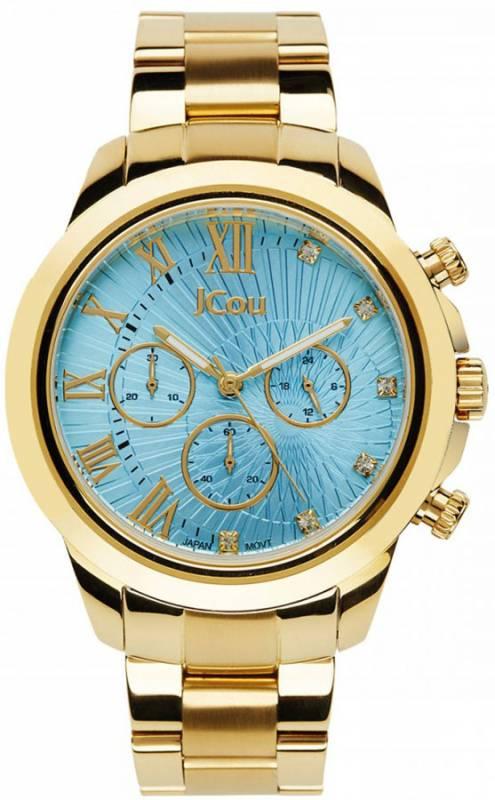 Ρολόι χειρός JCou South Coast Gold Bracelet JU15041-6 JU15041-6 Ατσάλι ρολόγια jcou