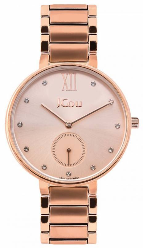 Γυναικείο ρολόι JCou Majesty Rose gold Bracelet JU15045-3 JU15045-3 Ατσάλι