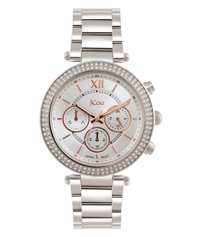 Ρολόι JCou Lady D Silver Bracelet JU16017-1 JU16017-1 Ατσάλι