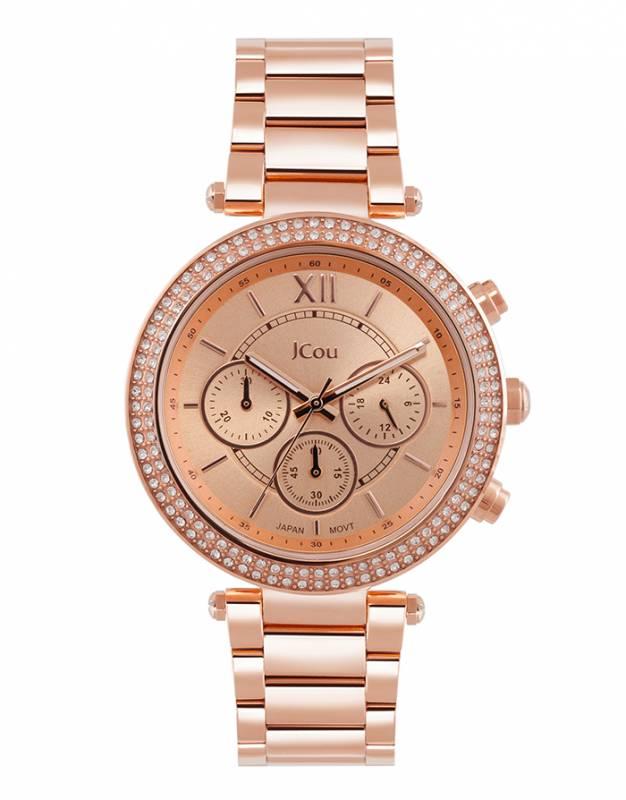 Ρολόι JCou Rose gold Lady D Bracelet JU16017-2 JU16017-2 Ατσάλι