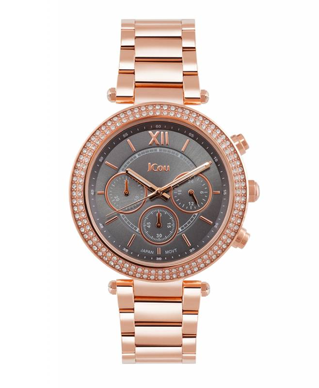 Ρολόι JCou Rose gold Lady D Bracelet JU16017-3 JU16017-3 Ατσάλι