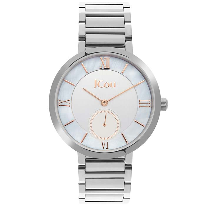 Γυναικείο ρολόι JCou Celine Silver JU16057-3 JU16057-3 Ατσάλι ρολόγια jcou