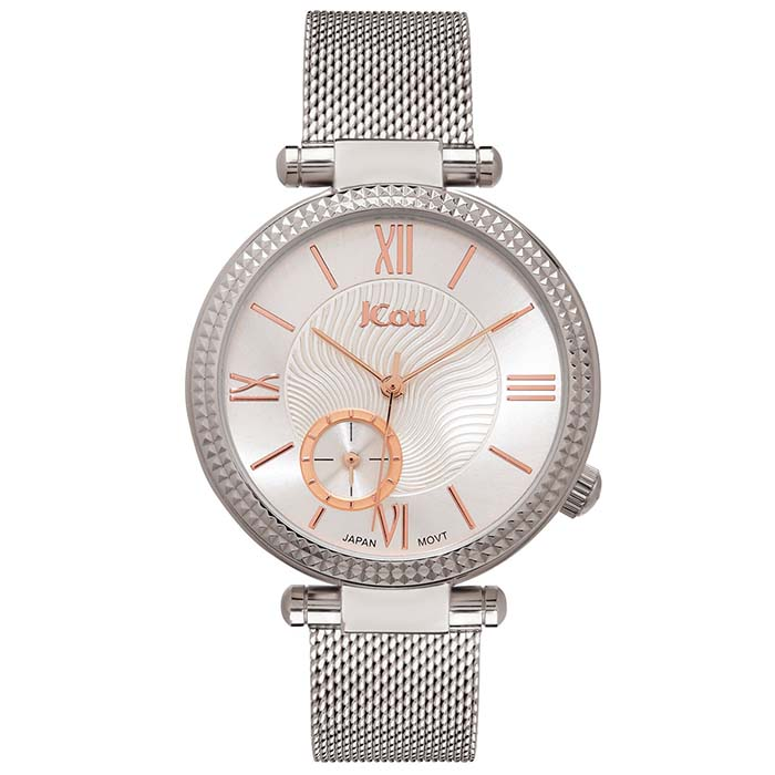 Ρολόι χειρός JCou Eclipse Stainless Steel Bracelet JU17021-1 JU17021-1 Ατσάλι