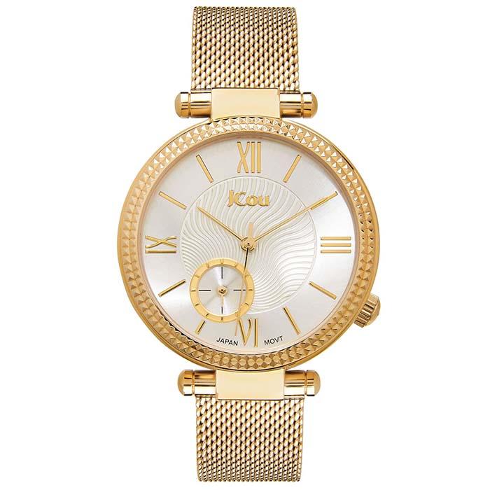 Χρυσό ρολόι χειρός JCou Eclipse Bracelet JU17021-3 JU17021-3 Ατσάλι