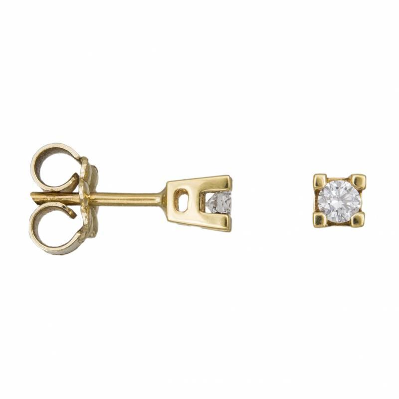 Χρυσά σκουλαρίκια με διαμάντια Κ18 033157 033157 Χρυσός 18 Καράτια