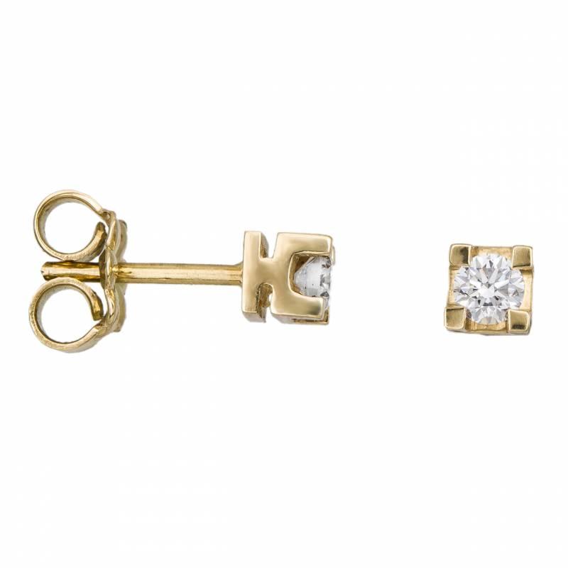 Γυναικεία σκουλαρίκια με διαμάντια Κ18 033121 033121 Χρυσός 18 Καράτια