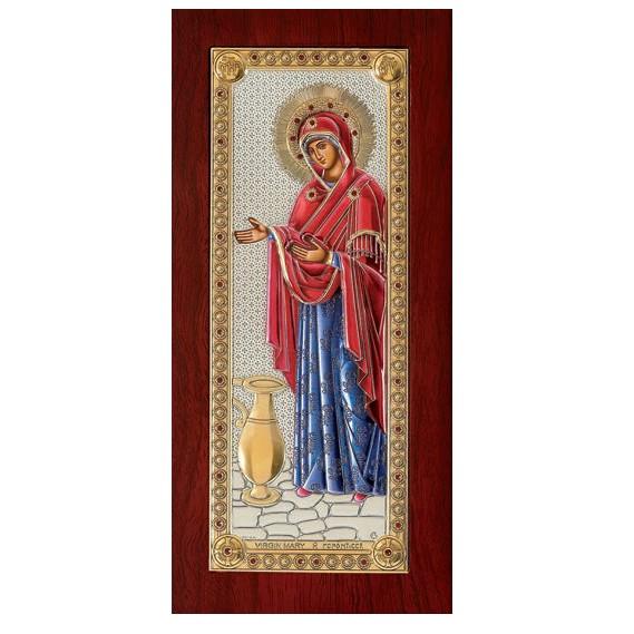 Ασημένια εικόνα Παναγία η Γερόντισσα 925 032150 032150 Ασήμι