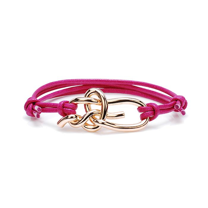 Βραχιόλι Κόμπος της αγάπης Rose gold NA102R NA102R Ατσάλι fashion jewels nodiamo