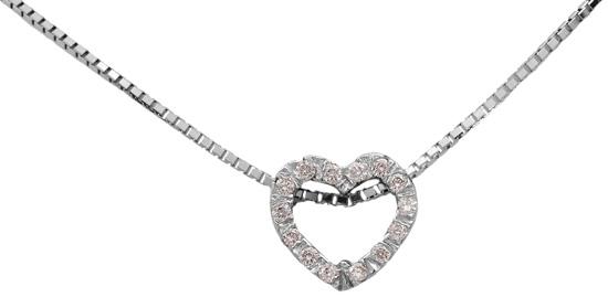 Λευκόχρυσο κολιέ 18Κ με διαμάντια 011380 Χρυσός 18 Καράτια