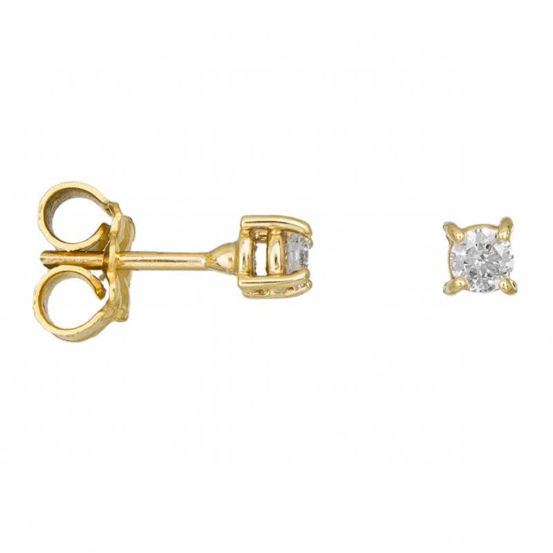 Χρυσά γυναικεία σκουλαρίκια με διαμάντια Κ18 033155 033155 Χρυσός 18 Καράτια