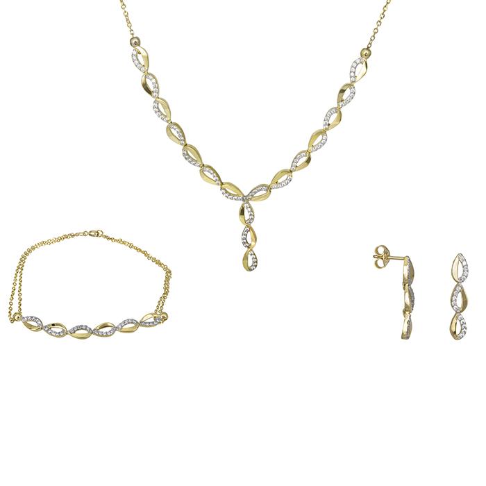 Σετ γάμου - αρραβώνα Κ9 SET026702 SET026702 Χρυσός 9 Καράτια